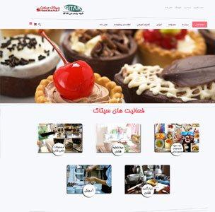 طراحی سایت شرکت سیتاک صنعت